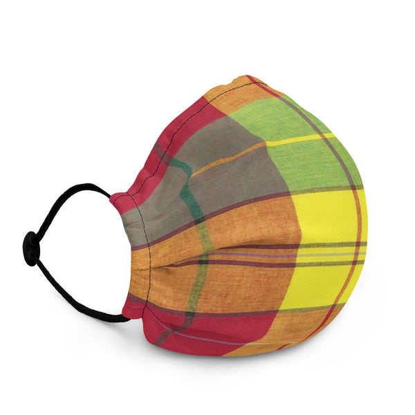 Madras Inspired Face Mask