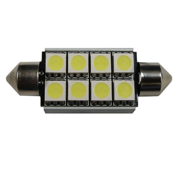 211 42mm 8 SMD Canbus Error Free Festoon Style LED Bulbs - LEDS