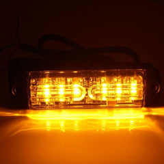 Dual Color Surface Mount Flasher Light - 12 LEDs - Strobes