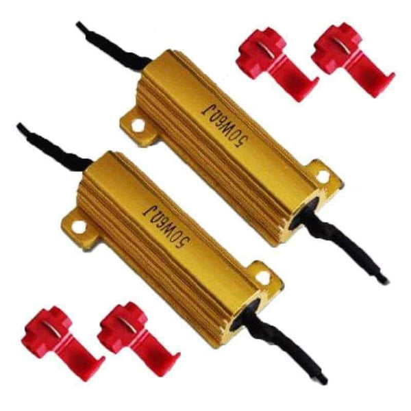 LED Load Resistors 50W 6 Ohm for LED Turn Signal Lights (Fix Hyper Flash Warning Canceler) (2 Pieces) - Load Resistors