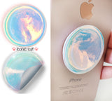 crystal diamond opal moon metallic blue popsockets popsocket stickers decal skin wrap