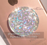 Holographic silver glitter - 3D GEMSTONE STICKER FOR PopSockets