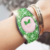 green glitter decal skins for magic band 2.0 magicbands