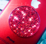 Red holographic glitter - 3D GEMSTONE STICKER FOR PopSockets