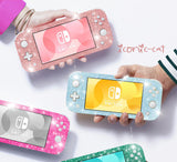 Nintendo Switch lite GLITTER SKINS decals wraps  coral pink, blue, rose gold