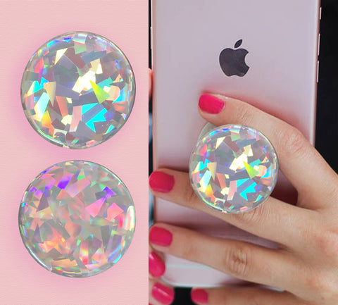 Holographic rainbow Diamond 3D sticker stickers for pop socket, popsockets
