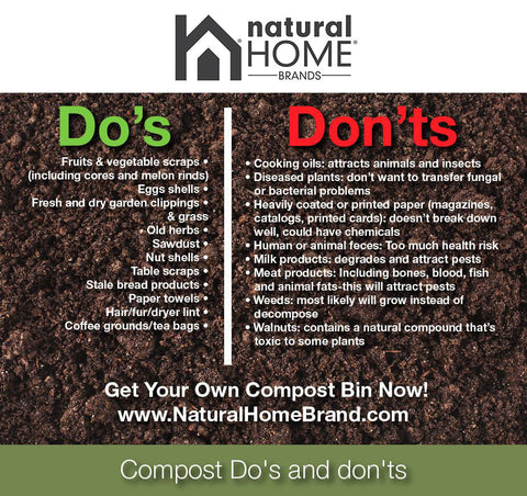Compost Bins Do's & Don'ts - Natural Home Brands