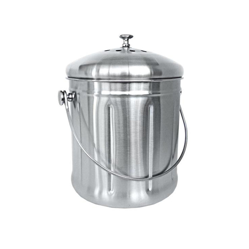 Stainless Steel Kitchen Compost Bin – 1.8 Gallon