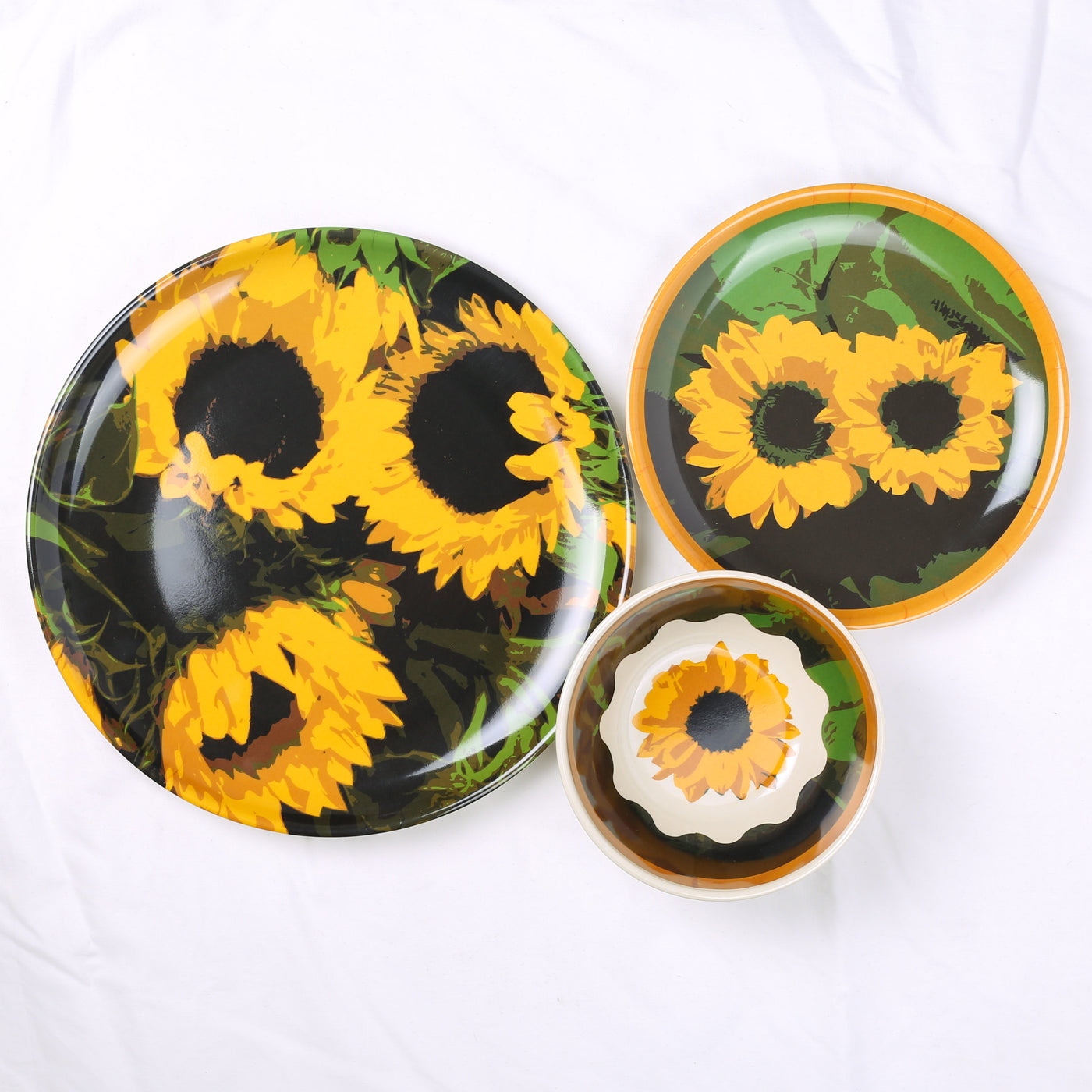 Molded Bamboo® Sunflower-BPA Free Dinnerware Set