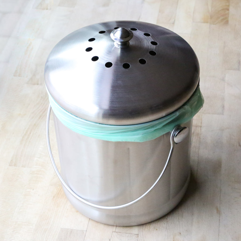 Kitchen Compost Bin Stainless Steel – 1.8 Gallon