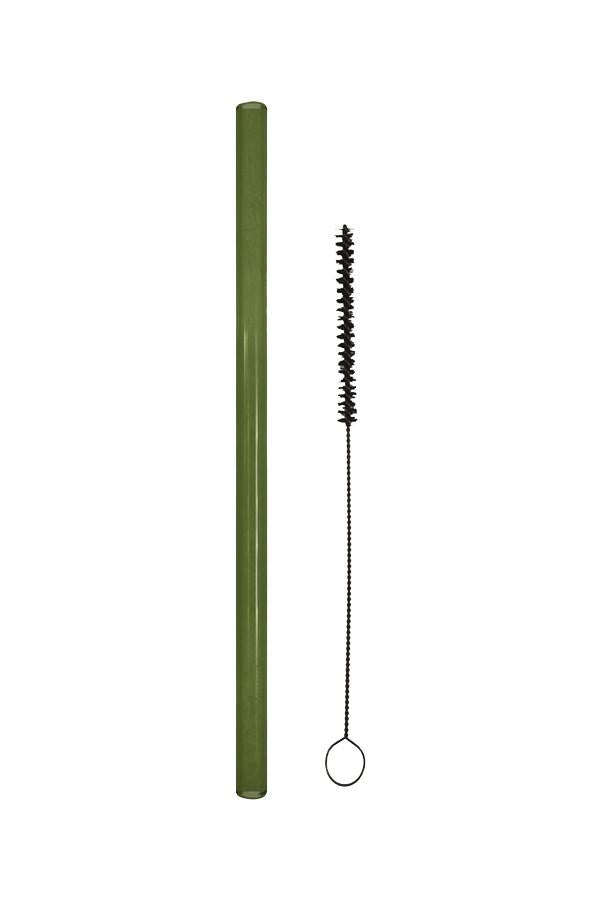 Green reusable straw