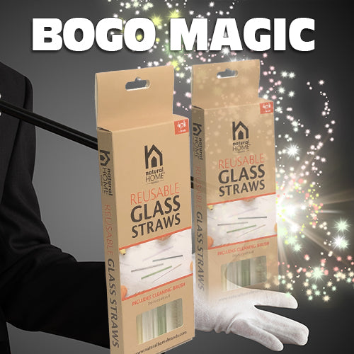 BOGO Special on Glass Straws 4 pack/4 colors