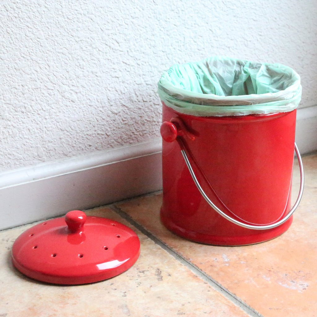Ceramic Kitchen Compost Bin - 3 Colors