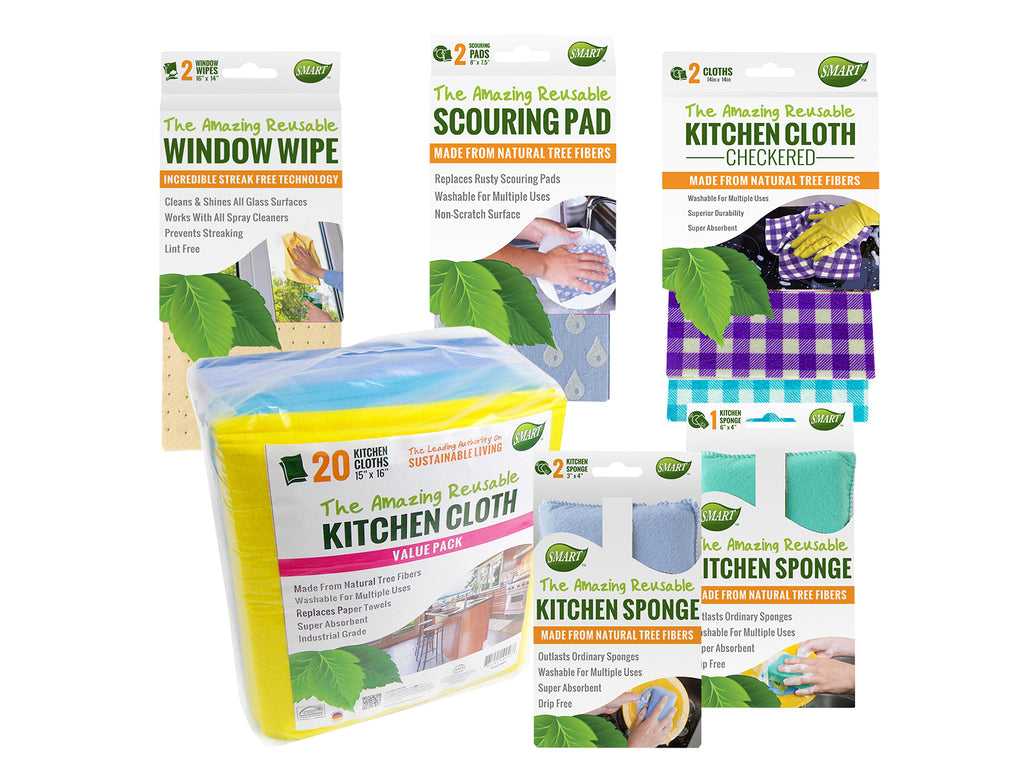 EcoFriendly Full House Reusable Cleaning Cloth Set 31pc
