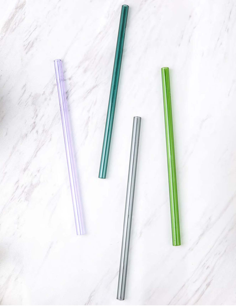 reusable durable glass straws