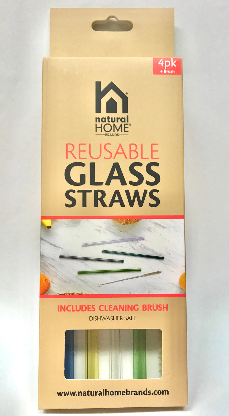 Glass Straws 4 pack/4 colors