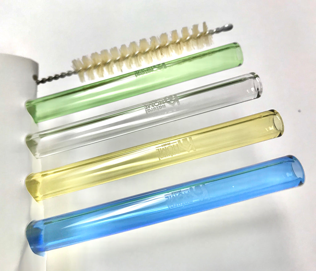 glass straws 4 pack colors