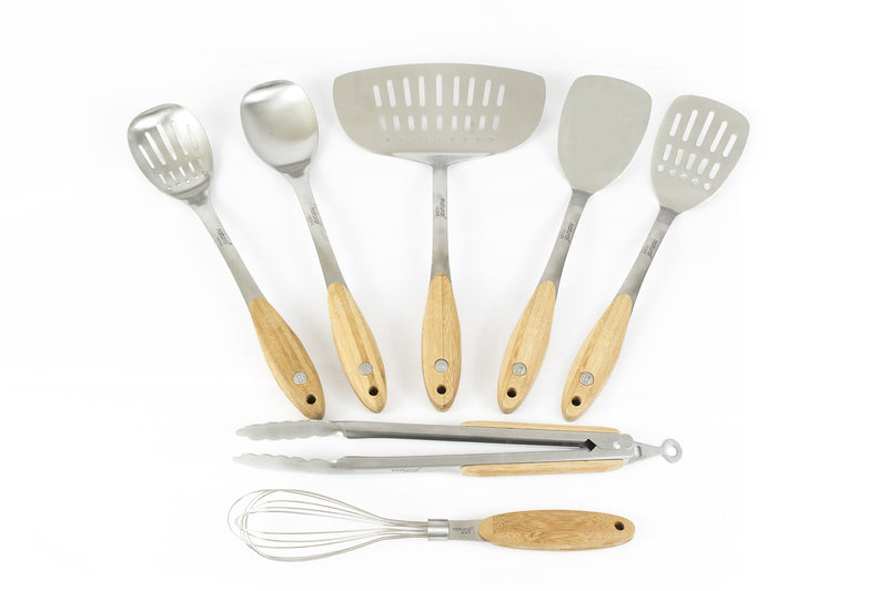 Bamboo & Stainless Steel 7 Piece Set