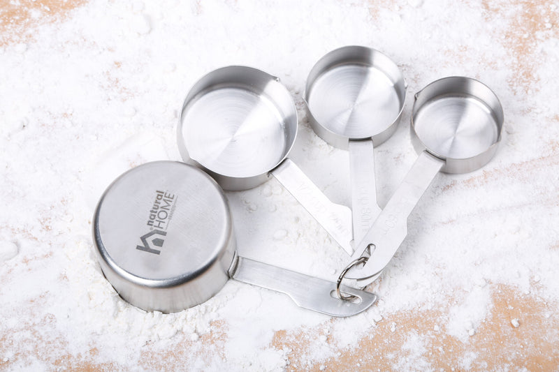 4 Pc Stainless Steel Measuring Cups