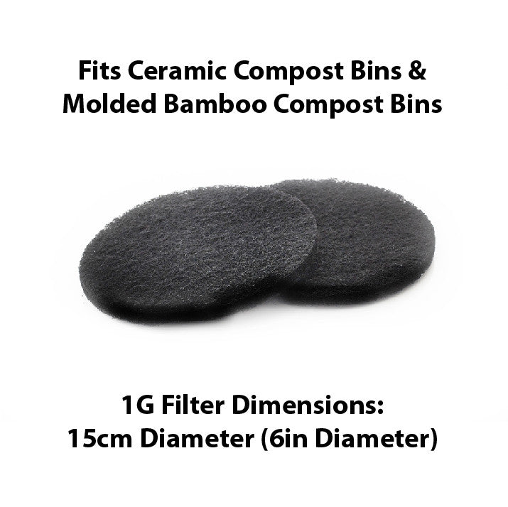 1 Gallon Compost Bin Replacement Filters