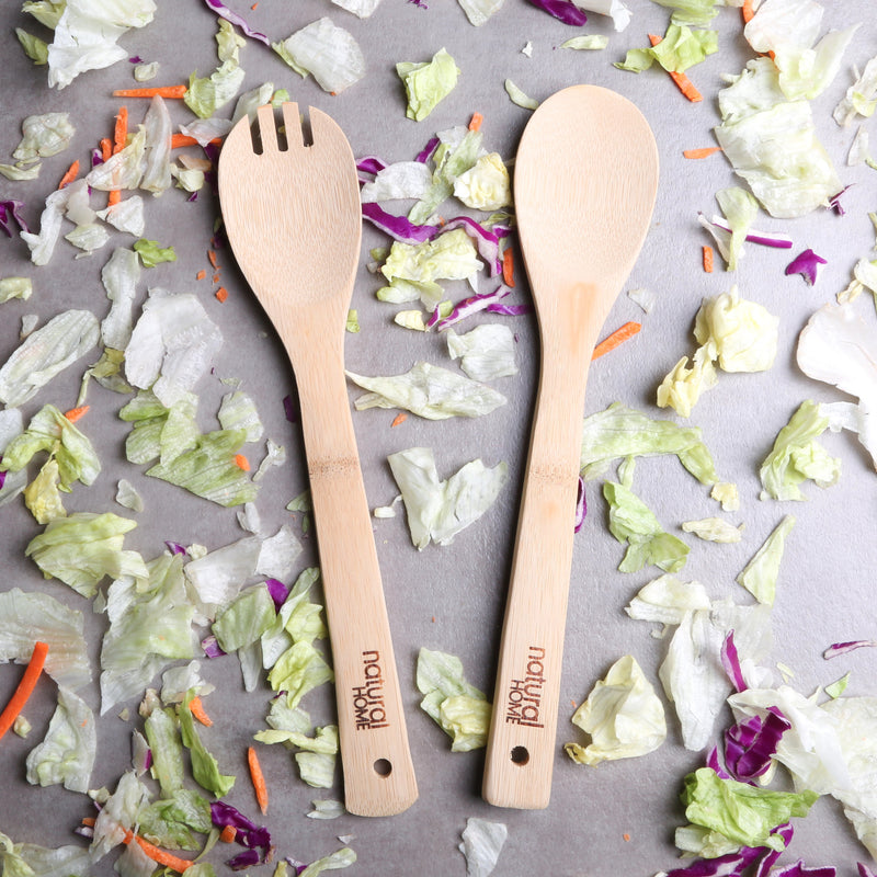 Salad Serving Set - Bamboo