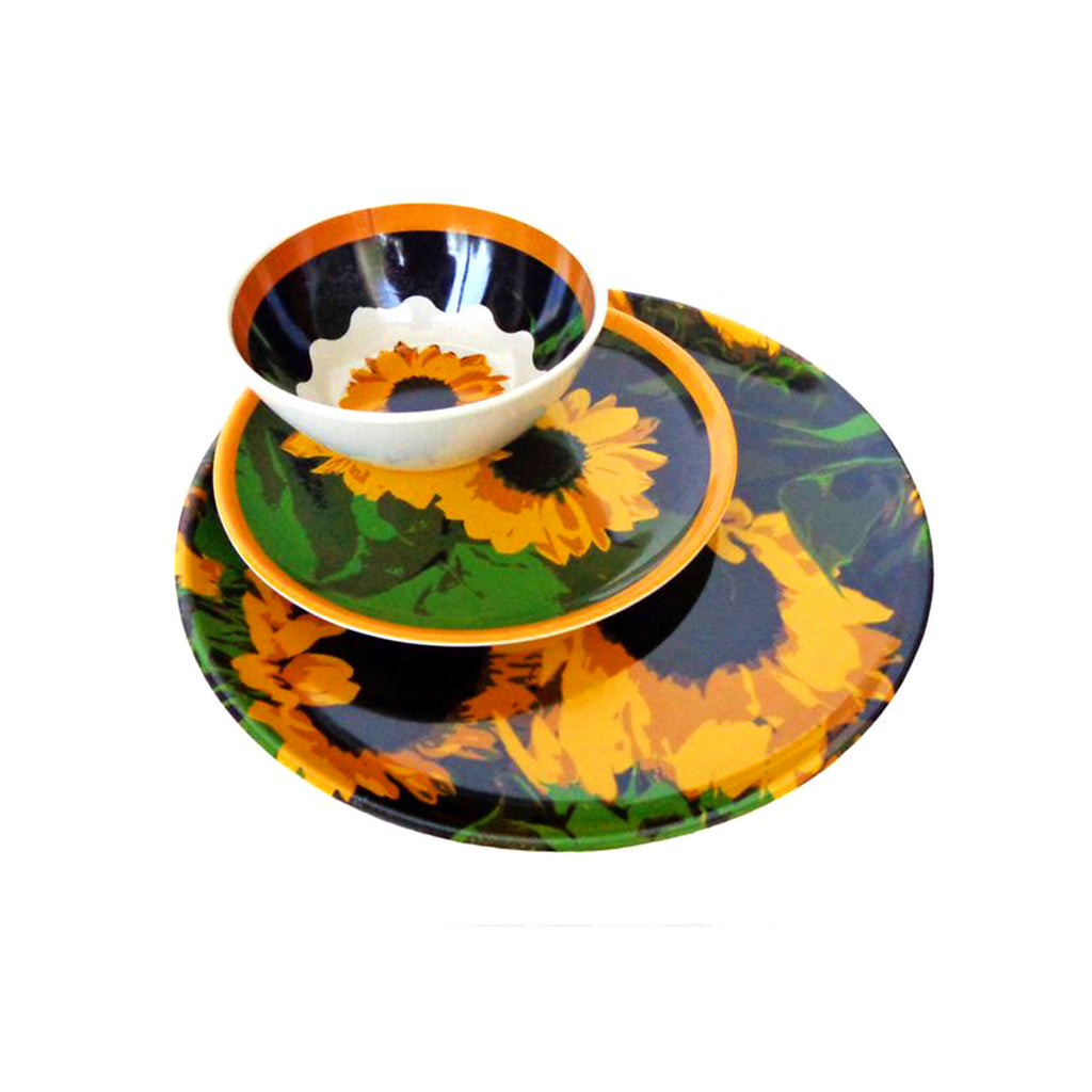 Molded Bamboo® Sunflower Dinnerware Set – 12 Piece