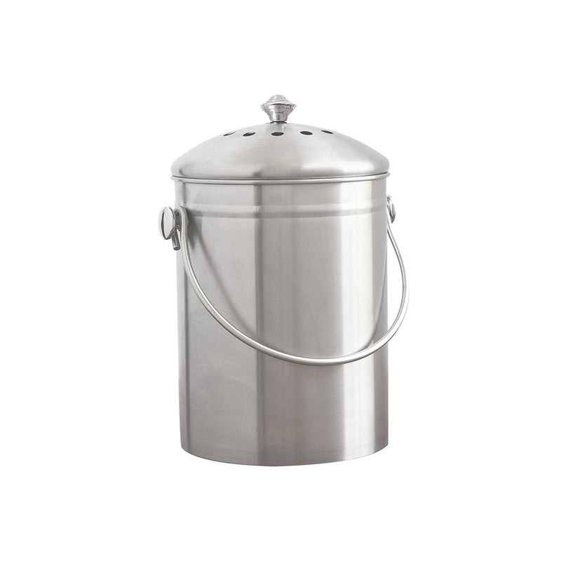 Natural Home Stainless Steel Compost Bin