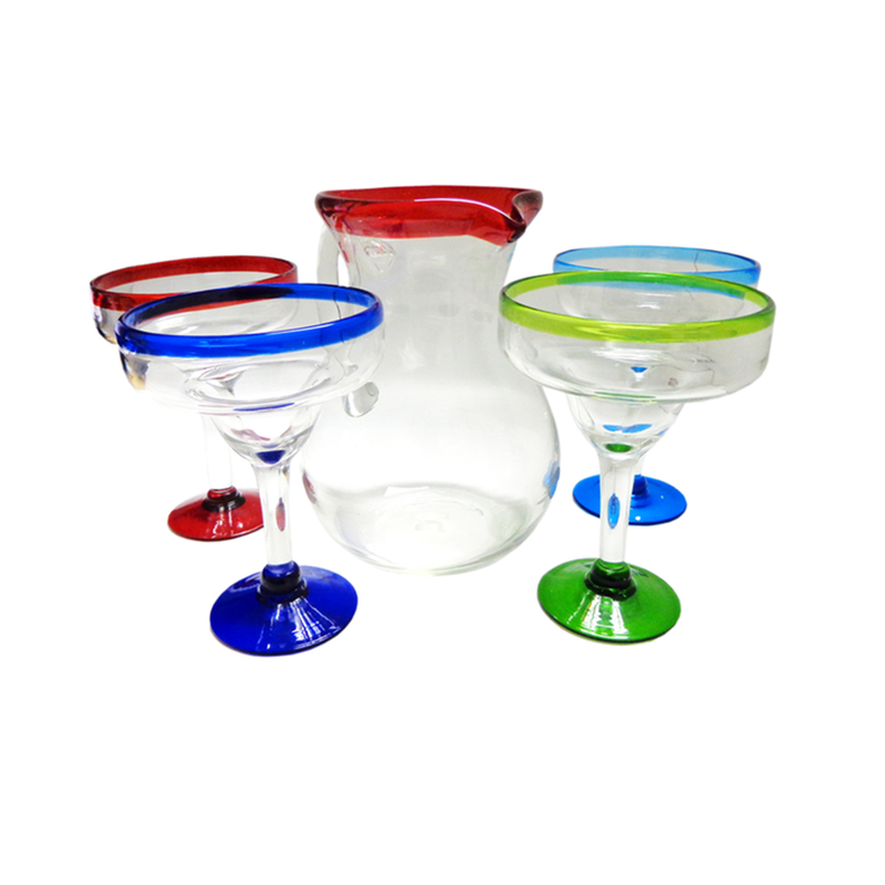 Margarita Hand-Blown Glassware Set