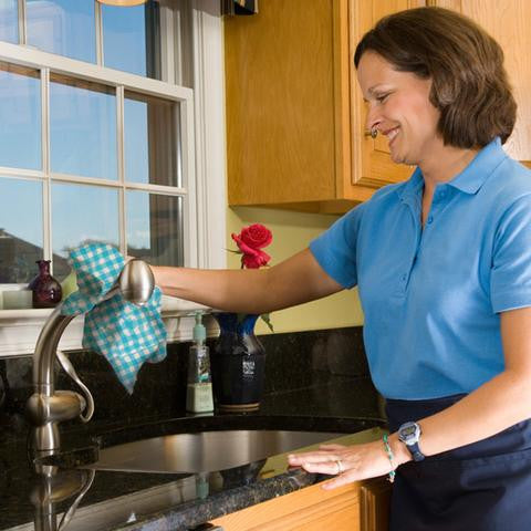 Reusable cleaning cloth lifestyle