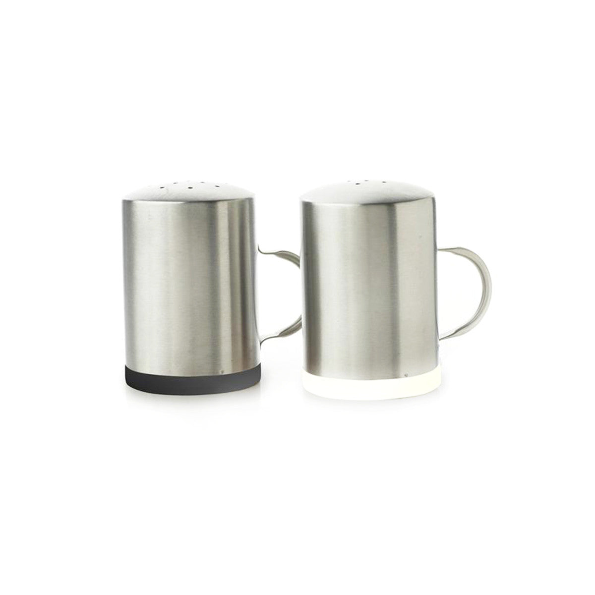 metal salt and pepper shakers  with handles – natural home brands - metal salt and pepper shakers