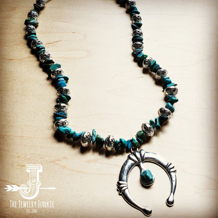Squash Blossom Necklace in Natural Turquoise