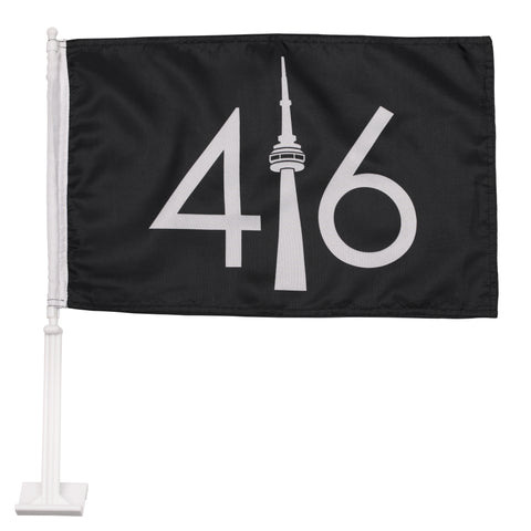 Black 416 Car Flag
