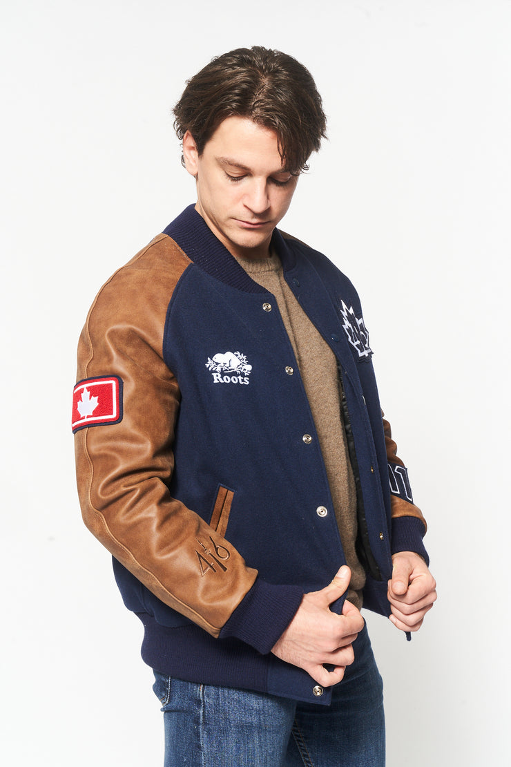 416 Roots Awards Jacket - Men's Blue & brown