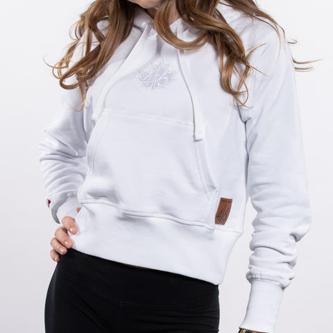 416 - Women's French Terry Cotton Sweater - White