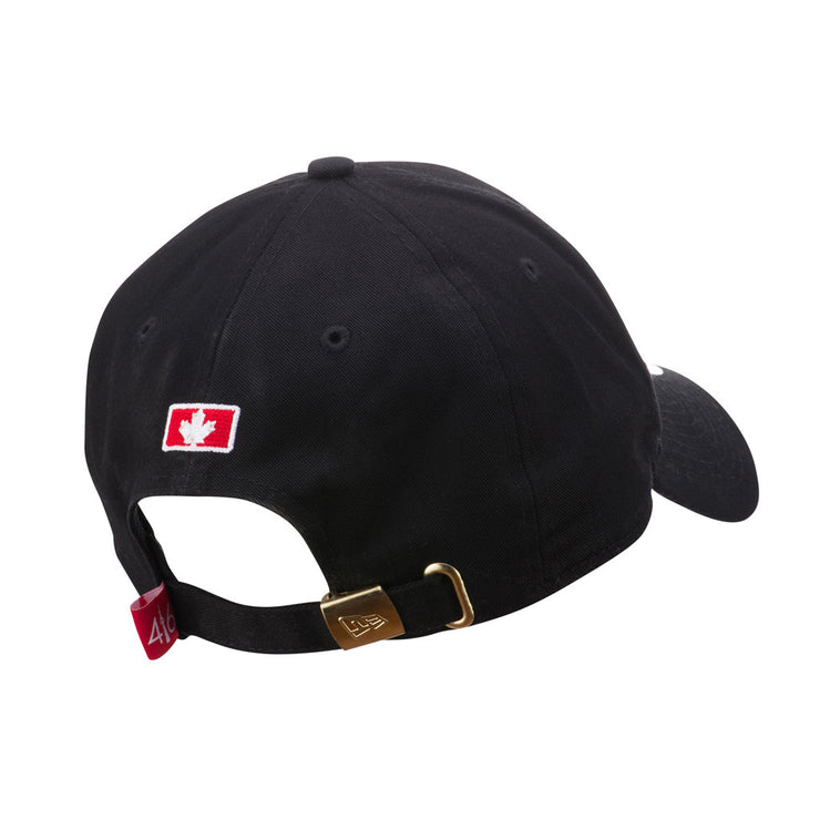 416 New Era 9TWENTY Adjustable Cap- Black / White Logo