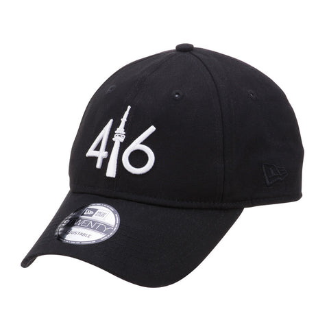 416™ New Era 9TWENTY - BLACK/WHITE LOGO