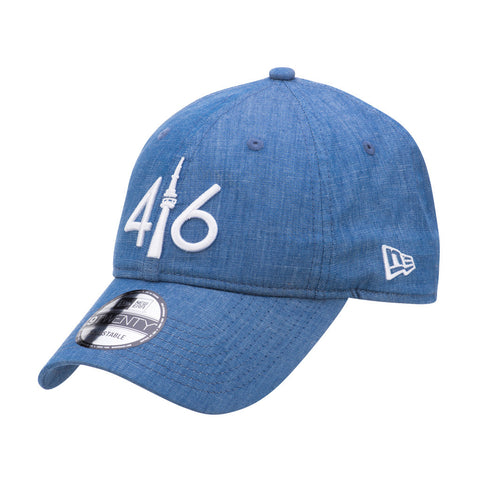 416™ New Era 9TWENTY - BLUE DENIM/WHITE LOGO