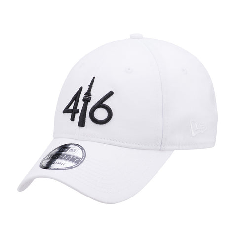 416™ New Era 9TWENTY - WHITE/BLACK LOGO