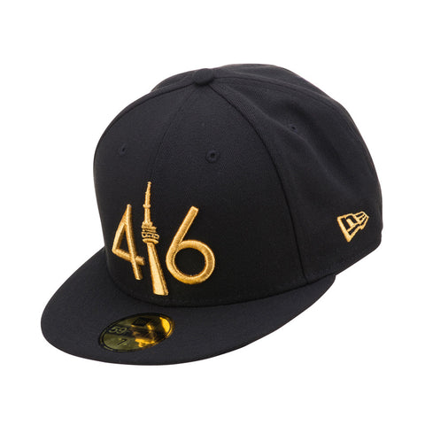 416 New Era 59FIFTY - BLACK/GOLD LOGO