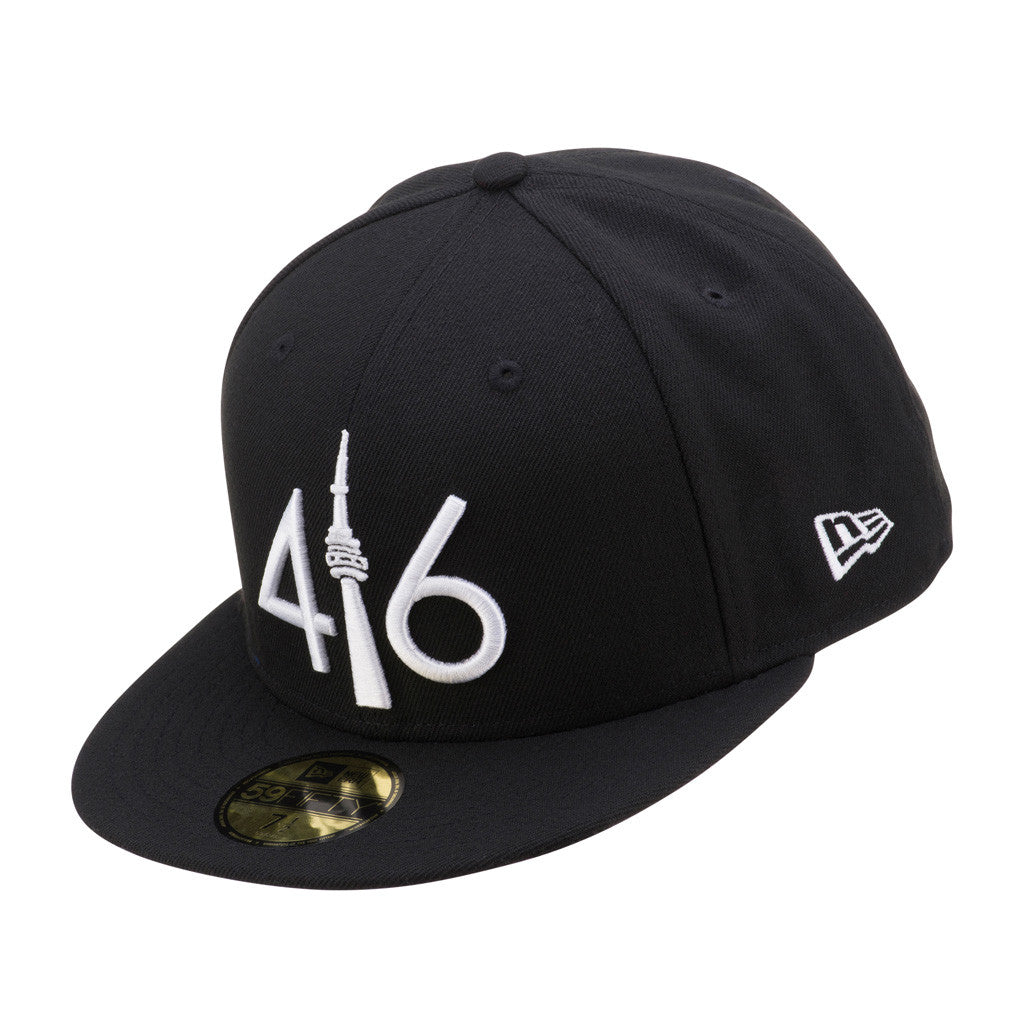 AVAILABLE AT LIDS   - 416™ New Era 59FIFTY - BLACK WHITE LOGO – 416  Company 9267db41bbd