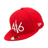 416 New Era 59FIFTY - RED/WHITE LOGO