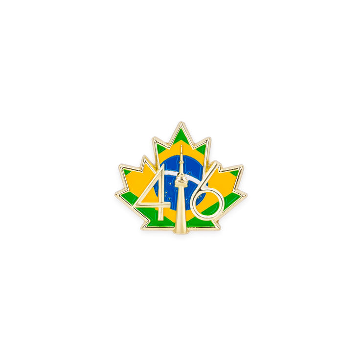 416 Brazil Flag Lapel Pin