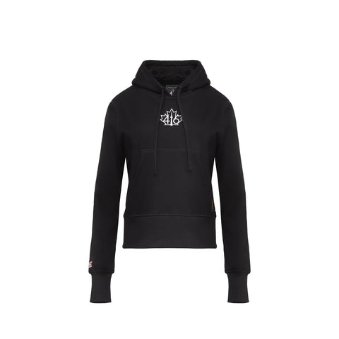 416 French Terry Women's Pullover Hoodie - Black