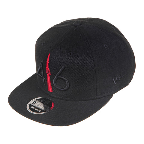 416 New Era 9FIFTY - BLACK/RED TOWER
