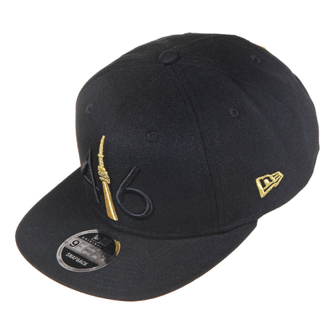 416 New Era 9FIFTY SNAPBACK- BLACK/GOLD TOWER