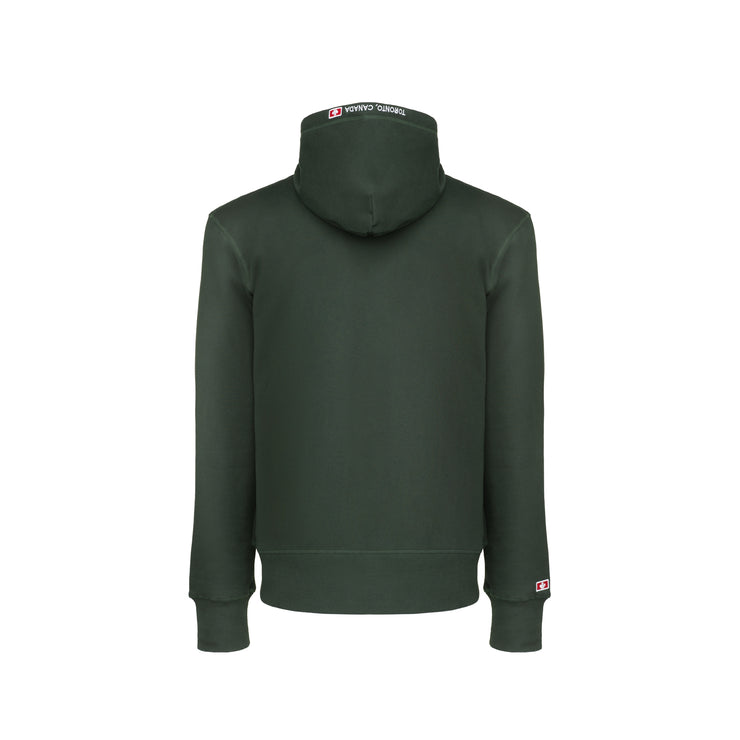 416 French Terry Men's Pullover Hoodie - Forest Green
