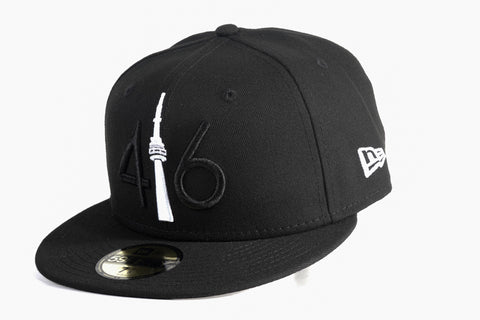 *NEW* 416 New Era 59FIFTY - Black / White Tower