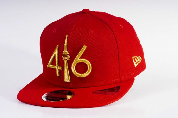 416 New Era 9FIFTY Snapback - Red / Gold