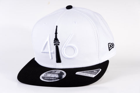 416 New Era 9FIFTY Snapback - White / Black Tower