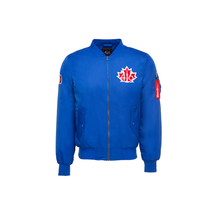 Limited Edition 416 Men's Bomber Jacket - Blue